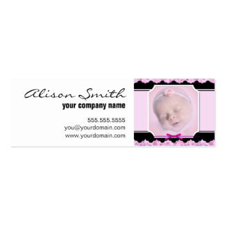 Custom baby phase business card template