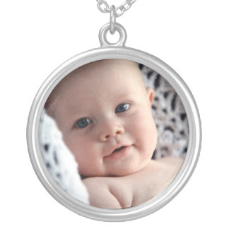 Custom baby photo memento token keepsake jewelry