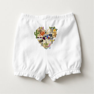 Custom Baby Ruffled Diaper Bloomers for Texas Baby Nappy Cover