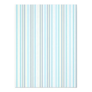 CUSTOM Baby Shower Blue White DIY Confetti Page 6.5x8.75 Paper Invitation Card