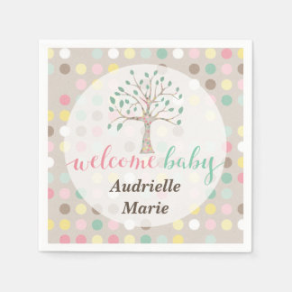 Custom Baby Shower Love Grows In Our Family Tree Disposable Napkin
