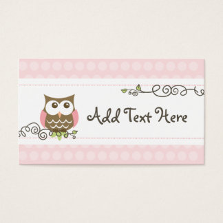 Custom baby shower owl tag