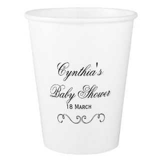 Custom Baby Shower Paper Cups Party Tableware