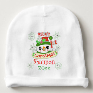 Custom Baby's First Christmas Baby Beanie