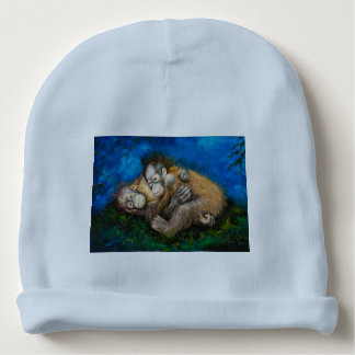 Custom Baby's Rabbit Skin Cotton Rib Infant Hat Baby Beanie