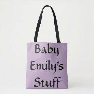 Custom Baby's Stuff Purple Diaper Bag