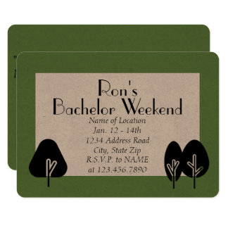 Custom Bachelor Weekend Wilderness Invitation