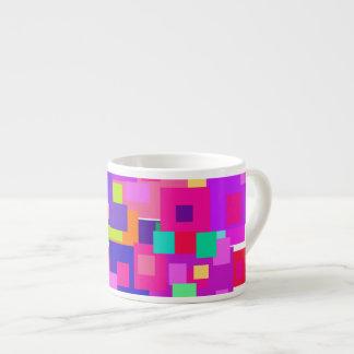 Custom Background Color Clustered Squares Espresso Mug