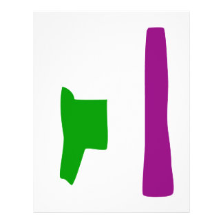 Custom Background Color Green and Purple Custom Flyer