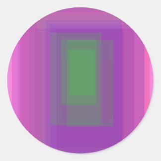 Custom Background Color Green Round Sticker