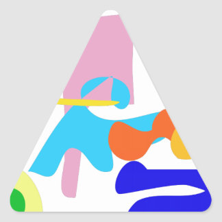 Custom Background Color Joy Triangle Sticker