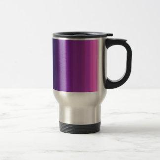 Custom Background Color Purple Core Stainless Steel Travel Mug