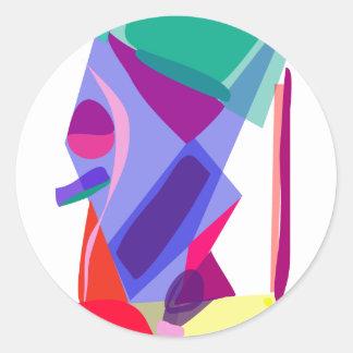 Custom Background Color Sandglass Round Sticker