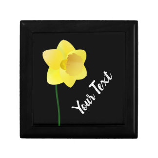Custom background color - yellow daffodil flower gift box
