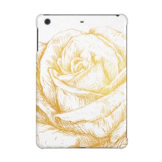 Custom Background Vintage Roses Floral Faux Gold