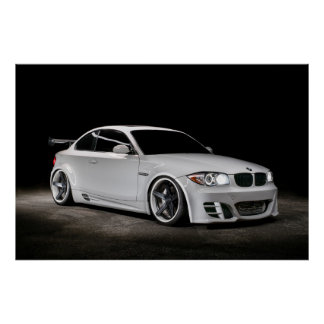 Custom Bagged Widebody BMW 1 Series Poster