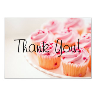 Custom Bake Sale Fundraiser Thank You Card Cupcake