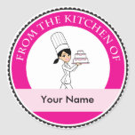 Custom Baking Label with Illustration Round Sticker