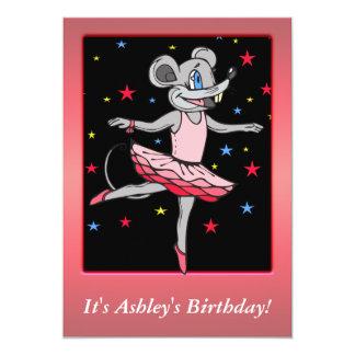 Custom Ballerina Mouse Birthday Party Invitation