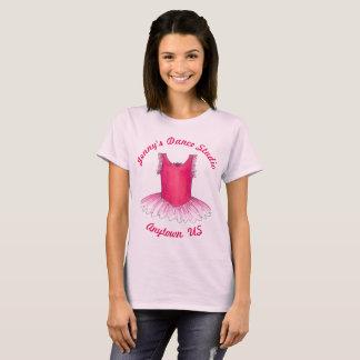 Custom Ballet Studio Pink Tutu Dance Center Team T-Shirt