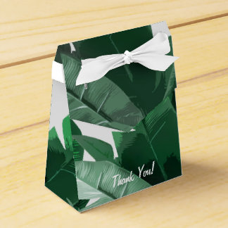 Custom Banana Leaf Print Favor Box