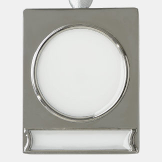 Custom Banner Ornament - Silver Plated