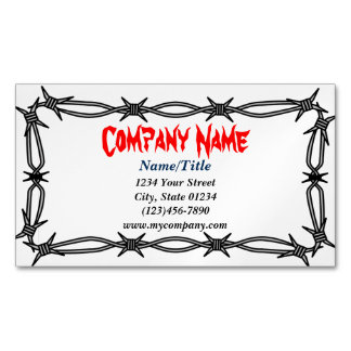 Custom Barbed Wire Magnetic Business Card