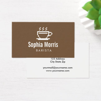 Custom barista coffee maker business card template