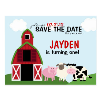 Custom Barnyard Save The Date or Invitations