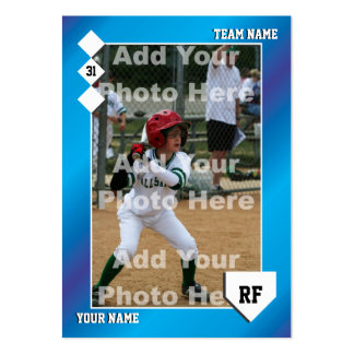 Custom Baseball Card Business Card Template