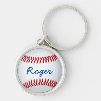 Custom Baseball Key Chain With Name Template