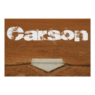 Custom Baseball or Softball Poster - Home Plate
