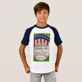 Custom Baseball Shirt with Number