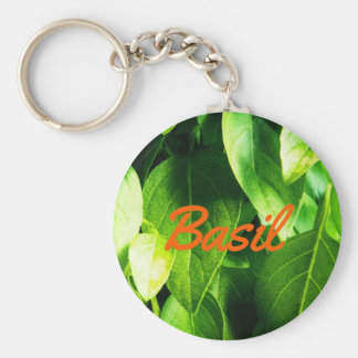 Custom Basil Leaves Key Ring