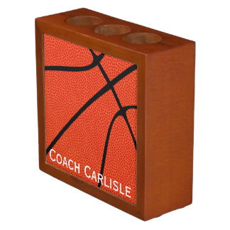 Custom Basketball Coach Name or Team Name Office Desk Organiser