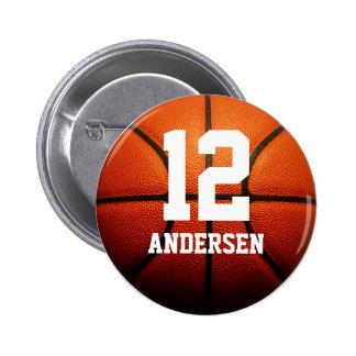Custom Basketball Numbers 6 Cm Round Badge