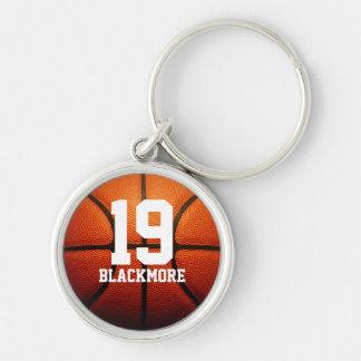 Custom Basketball Numbers Key Ring