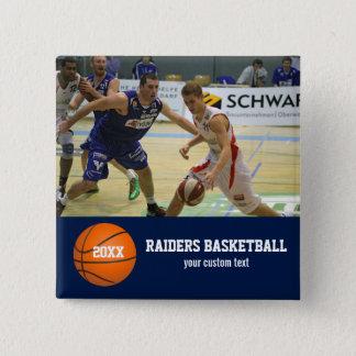 Custom Basketball Photos Player Team Name Year 15 Cm Square Badge