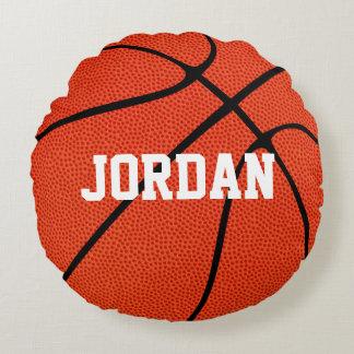 Custom Basketball Round Throw Pillow Round Cushion