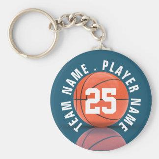 Custom Basketball Team Basic Round Button Key Ring