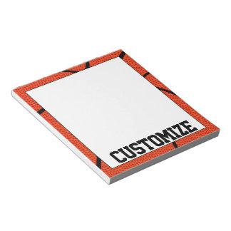 Custom Basketball Team Name Notepad for Coaches
