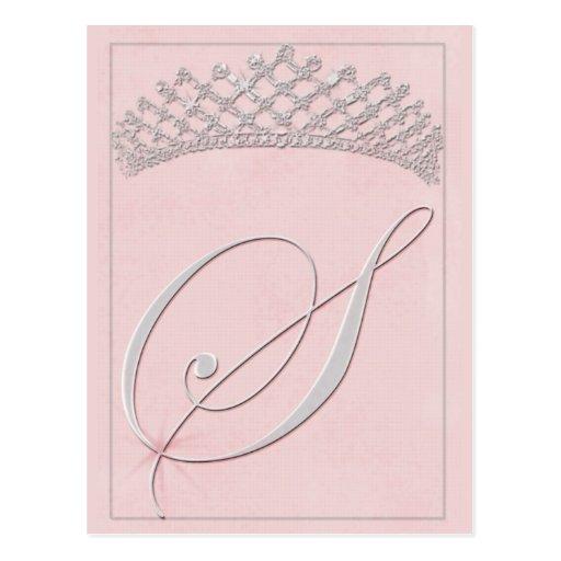 Custom Bat Mitzvah Design - Initial S Post Card