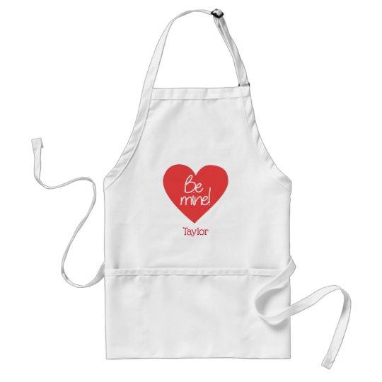 Custom Be Mine Heart Standard Apron