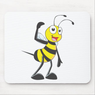 "Custom Bee in ""Come Here"" Hand Gesture Mouse Pad"