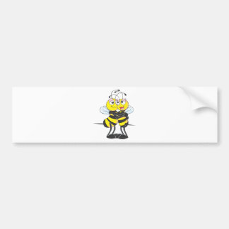 Custom Bee Lovers Hugging Each Other Bumper Sticker