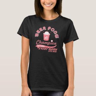 Custom Beer Pong Champion Award Shirt