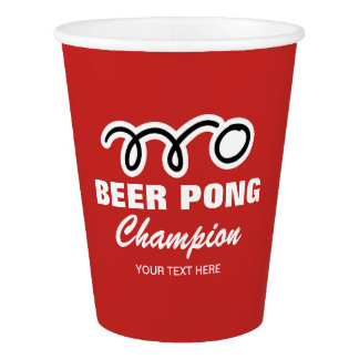 Custom beer pong paper party cups