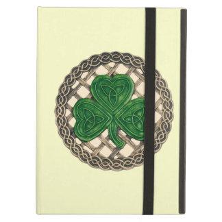 Custom Beige Shamrock Celtic Knots iPad Case