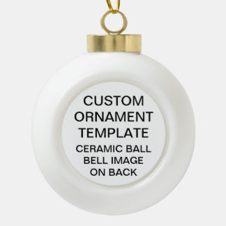 Custom BELL Ceramic Ball Christmas Tree Ornament