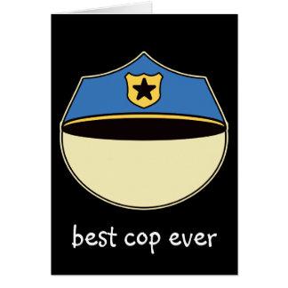 Custom Best Cop Ever Card